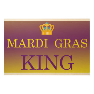 Mardi Gras King Wood Print
