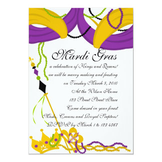 Mardi Gras King's Court Card