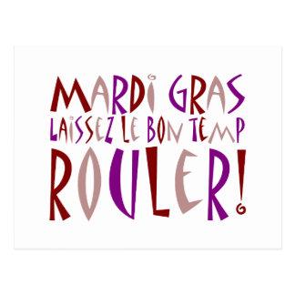 Mardi Gras - Laissez Le Bon Temp Rouler! Post Cards