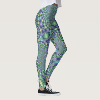 Mardi Gras Leggings Gold Black Purple Green