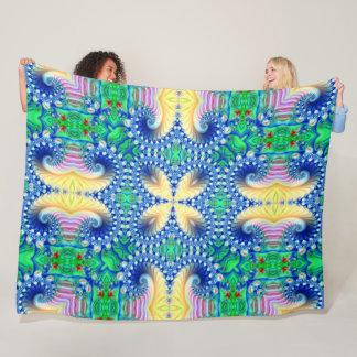 Mardi Gras Magic Butterfly Theme Pattern Fleece Blanket