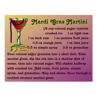 Mardi Gras Martini Postcard