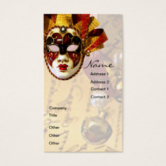 Mardi Gras Mask, Actor & Theatre Business Card