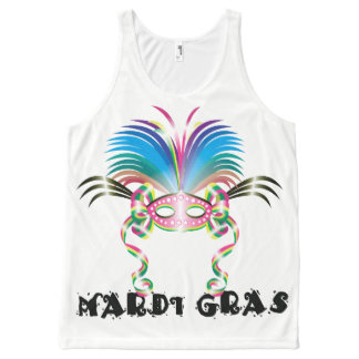 MARDI GRAS MASK AllOver Printed Unisex Tank All-Over Print Tank Top