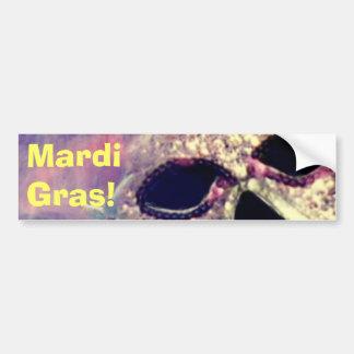 Mardi Gras Mask bumpersticker Bumper Sticker