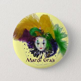 Mardi Gras Mask Button