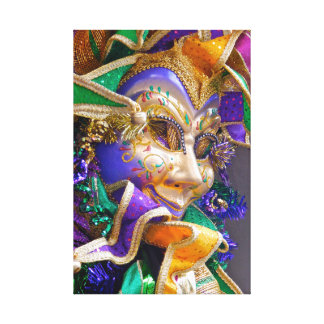 Mardi Gras mask Canvas Print