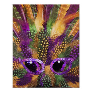 Mardi Gras mask, close-up, full frame Poster