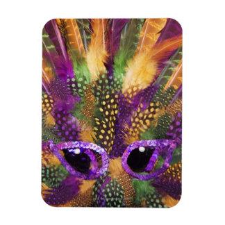 Mardi Gras mask, close-up, full frame Rectangular Photo Magnet