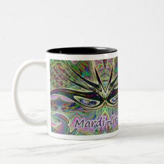 Mardi-Gras Mask Coffee Cup
