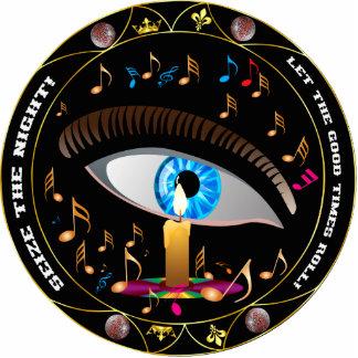 Mardi Gras Mask-Seize the night pin Photo Sculpture Badge
