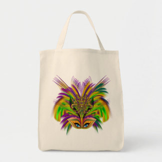 Mardi-Gras-Mask-The-Queen-V-3 Grocery Tote Bag