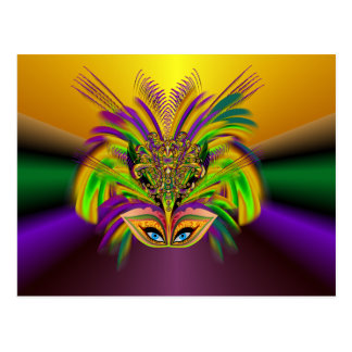 Mardi-Gras-Mask-The-Queen-V-3 Postcard