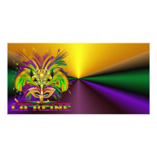 Mardi-Gras-Mask-The-Queen-V-4 Photo Greeting Card