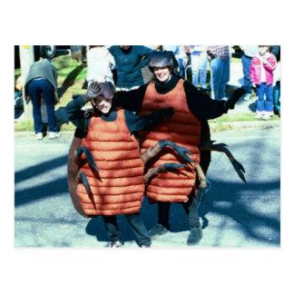 Mardi Gras Masking Roaches Postcard