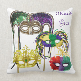 Mardi Gras Masks 1 Throw Pillow