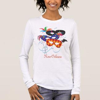 Mardi Gras Masks, New Orleans Long Sleeve T-Shirt