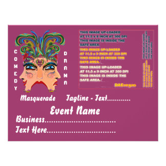 Mardi Gras Masquerade Comedy Drama View Hints Plse Flyers