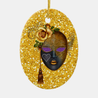 Mardi Gras - Masquerade - SRF Ceramic Oval Decoration