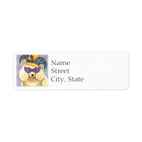 Mardi Gras Miniature Poodle Return Address Label