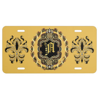 Mardi Gras Monogram B IMPORTANT Read About Design License Plate