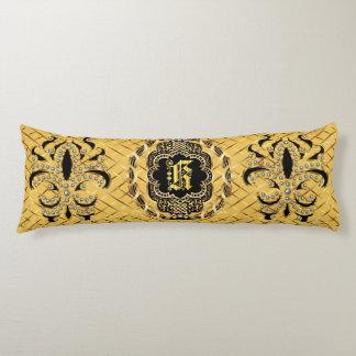Mardi Gras Monogram K IMPORTANT Read About Design Body Cushion