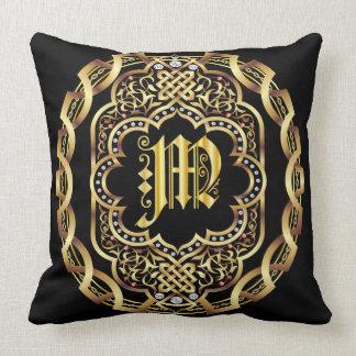 Mardi Gras Monogram M IMPORTANT Read About Design Cushion