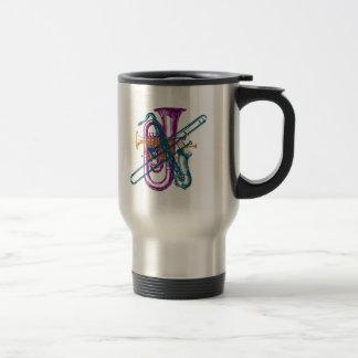 Mardi Gras Music 15 Oz Stainless Steel Travel Mug