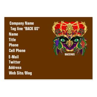 Mardi Gras Mythology Bacchus View Hints Please Business Card Templates