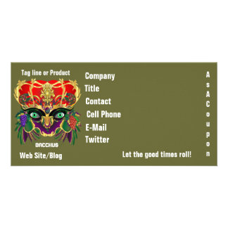 Mardi Gras Mythology Bacchus View Hints Please Picture Card