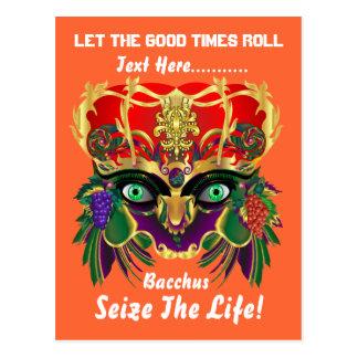 Mardi Gras Mythology Bacchus View Hints Please Postcard