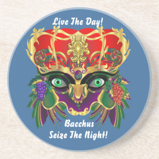 Mardi Gras Mythology Bacchus View Hints Please Sandstone Coaster