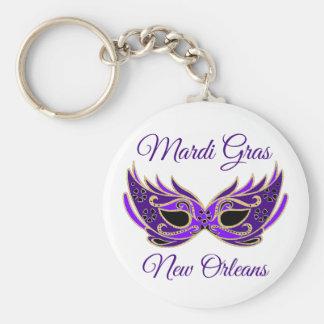 Mardi Gras New Orleans Mask Key Ring