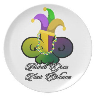 Mardi Gras New Orleans Plate