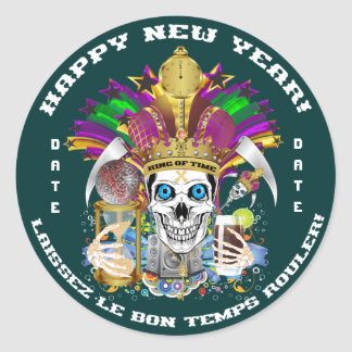 Mardi Gras New Year Customize View Notes Please Sticker