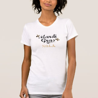 Mardi Gras NOLA Black on Womens Vtg T-Shirt