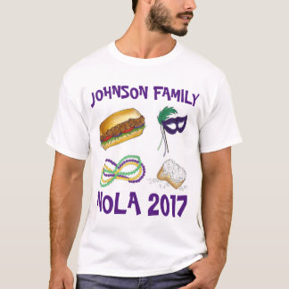 Mardi Gras NOLA New Orleans Family Vacation Trip T-Shirt