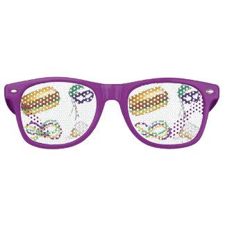 Mardi Gras NOLA New Orleans Print Pattern Party Retro Sunglasses