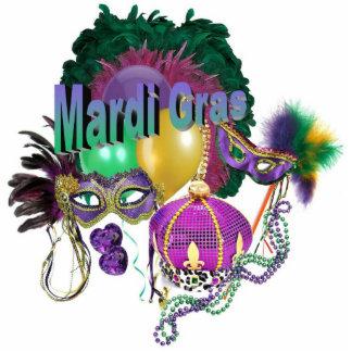 Mardi Gras Ornament Photo Sculpture Decoration