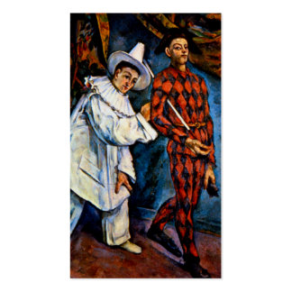 Mardi Gras painting by Paul Cezanne classic art Pack Of Standard Business Cards