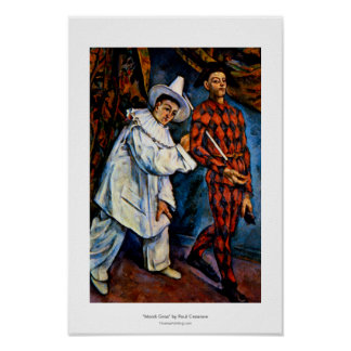Mardi Gras painting by Paul Cezanne classic art Poster