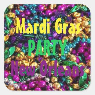 Mardi Gras Party 20 set Label Sticker Mardigras