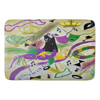 Mardi Gras party bath mat rug