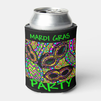 MARDI GRAS PARTY CAN COOLER