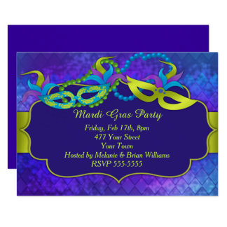 Mardi Gras Party Card