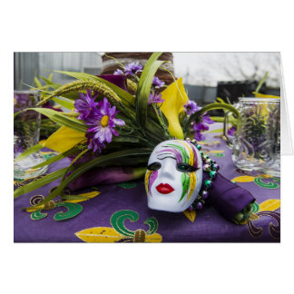 Mardi Gras Party Greeting Card