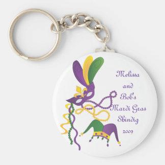 Mardi Gras Party Key Ring