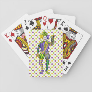 Mardi Gras Party Playing Cards with Jester
