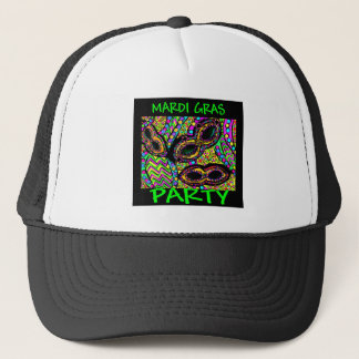 MARDI GRAS PARTY TRUCKER HAT