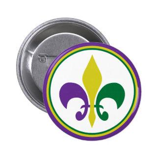 Mardi Gras Pinback Buttons